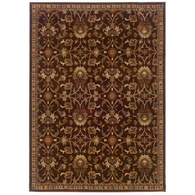 Brown Floral Rug (8'2 x 10')
