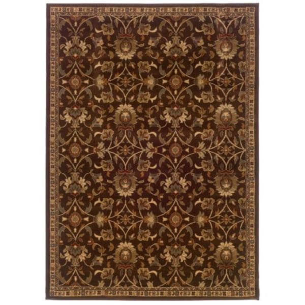 Laurel Creek Stanley Brown Floral Area Rug - 8'2 x 10'