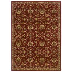 Red Floral Rug (5' x 7'6)