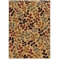 Beige Abstract Rug - 5' x 7'6""