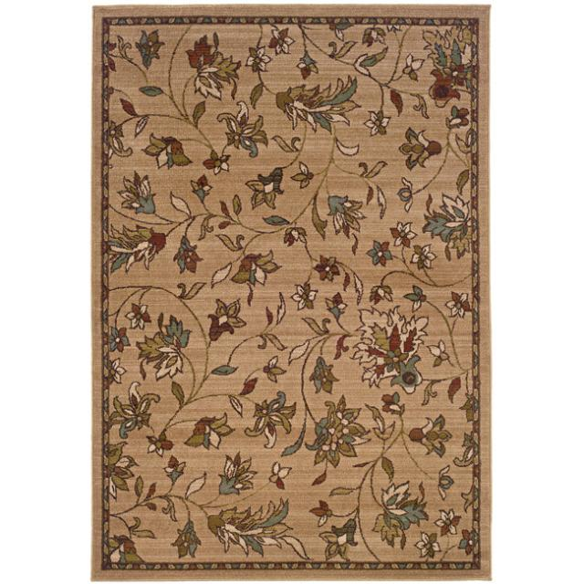 Shop Brown Floral Rug 7 10 X 10 Free Shipping Today