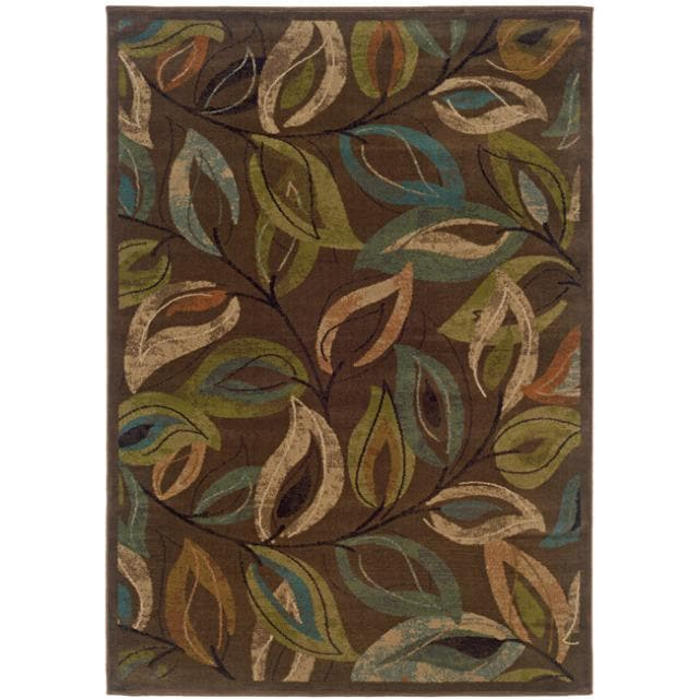 Brown Abstract Rug (3'10 x 5'5)