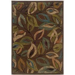 Brown Abstract Rug - 7'10 x 10' - Thumbnail 0
