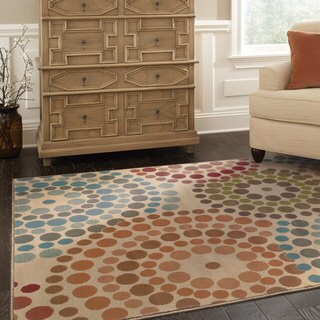 Oliver & James Abdy Multicolor Abstract Area Rug - 3'10 x 5'5