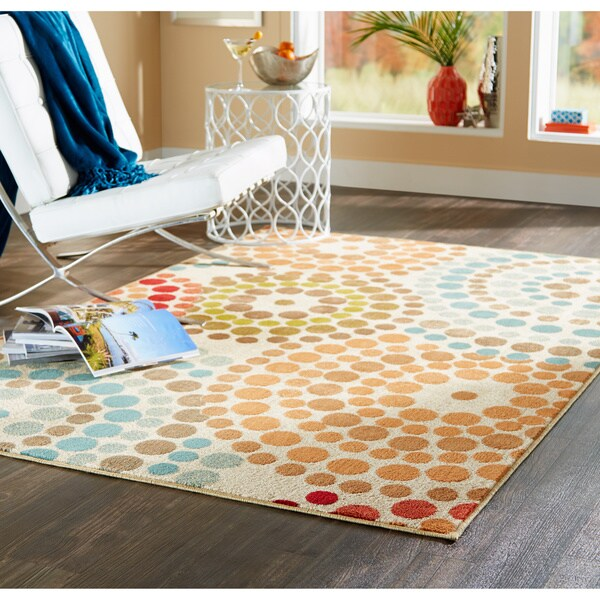 Biege Abstract Rug (7'10 x 10')