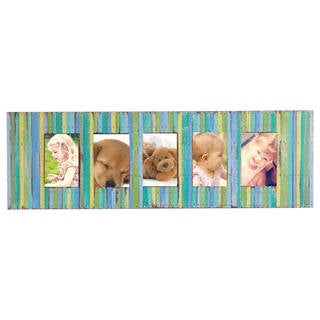 Link to Handmade Recycled Boat Wood 5-Window Picture Frame (Thailand) Similar Items in Decorative Accessories