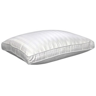 Damask Stripe 350 Thread Count Compartment Density Pillow