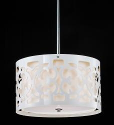 Hermosa White 3-light Pendant Chandelier - Thumbnail 1