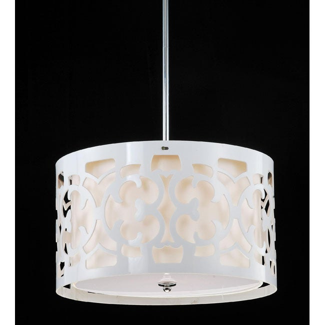 Hermosa White 3-light Pendant Chandelier - Thumbnail 0