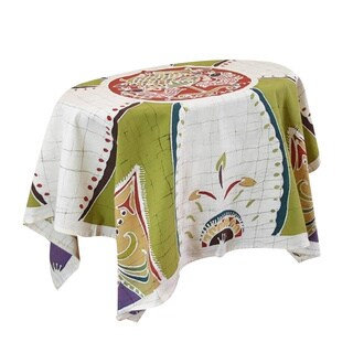 Handmade Cotton 'Real Life' Batik Tablecloth (Thailand)