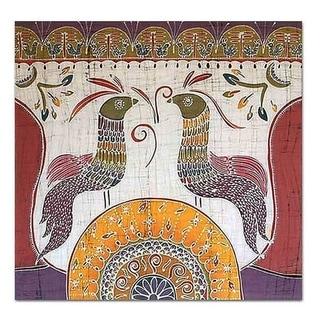 Handmade Song for the New Bird Themed Batik Hanging (Thailand)