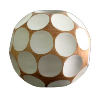 Handcrafted Mango Wood 'White Soccer Ball' Vase (Thailand)