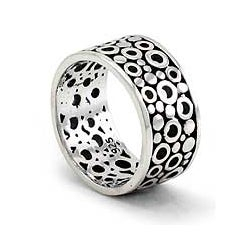 Men's Sterling Silver 'Illusion' Ring (Indonesia)