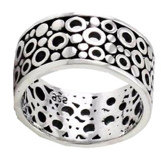 Handmade Men's Sterling Silver 'Illusion' Ring (Indonesia)