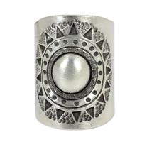 Handmade Sterling Silver 'Hill Tribe Sun' Wrap Ring (Thailand)