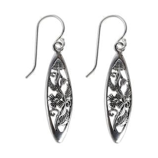 Sterling Silver 'Spring Daisy' Handmade Dangle Earrings (Thailand)