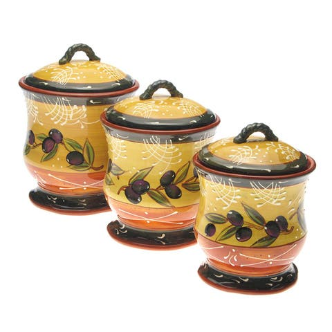Certified International French Olives Canister Set (Pack of 3)
