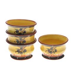 Certified International French Olives Ice Cream Bowl (Set of 4