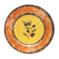 Certified International French Olives Round Platter