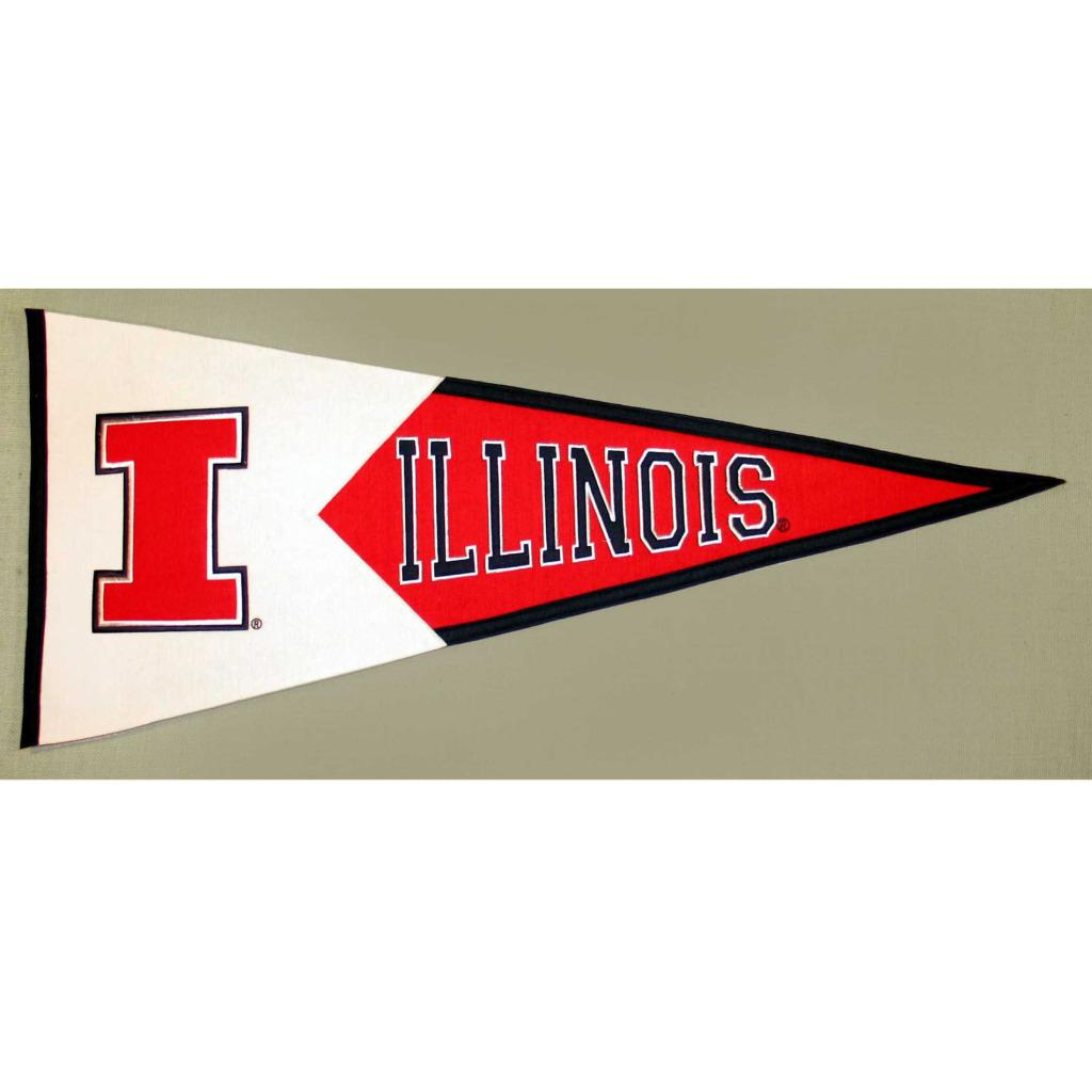 Illinois Fighting Illini Classic Wool Pennant