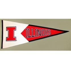 Illinois Fighting Illini Classic Wool Pennant - Thumbnail 2