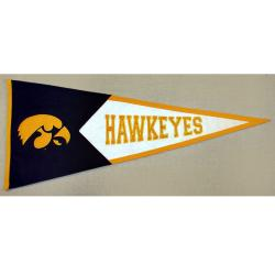 Iowa Hawkeyes Classic Wool Pennant - Thumbnail 1