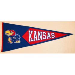 Kansas Jayhawks Classic Wool Pennant - Thumbnail 0