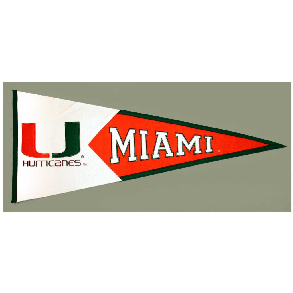 Miami Hurricanes Classic Wool Pennant