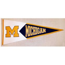 Michigan Wolverines Classic Wool Pennant - Thumbnail 2