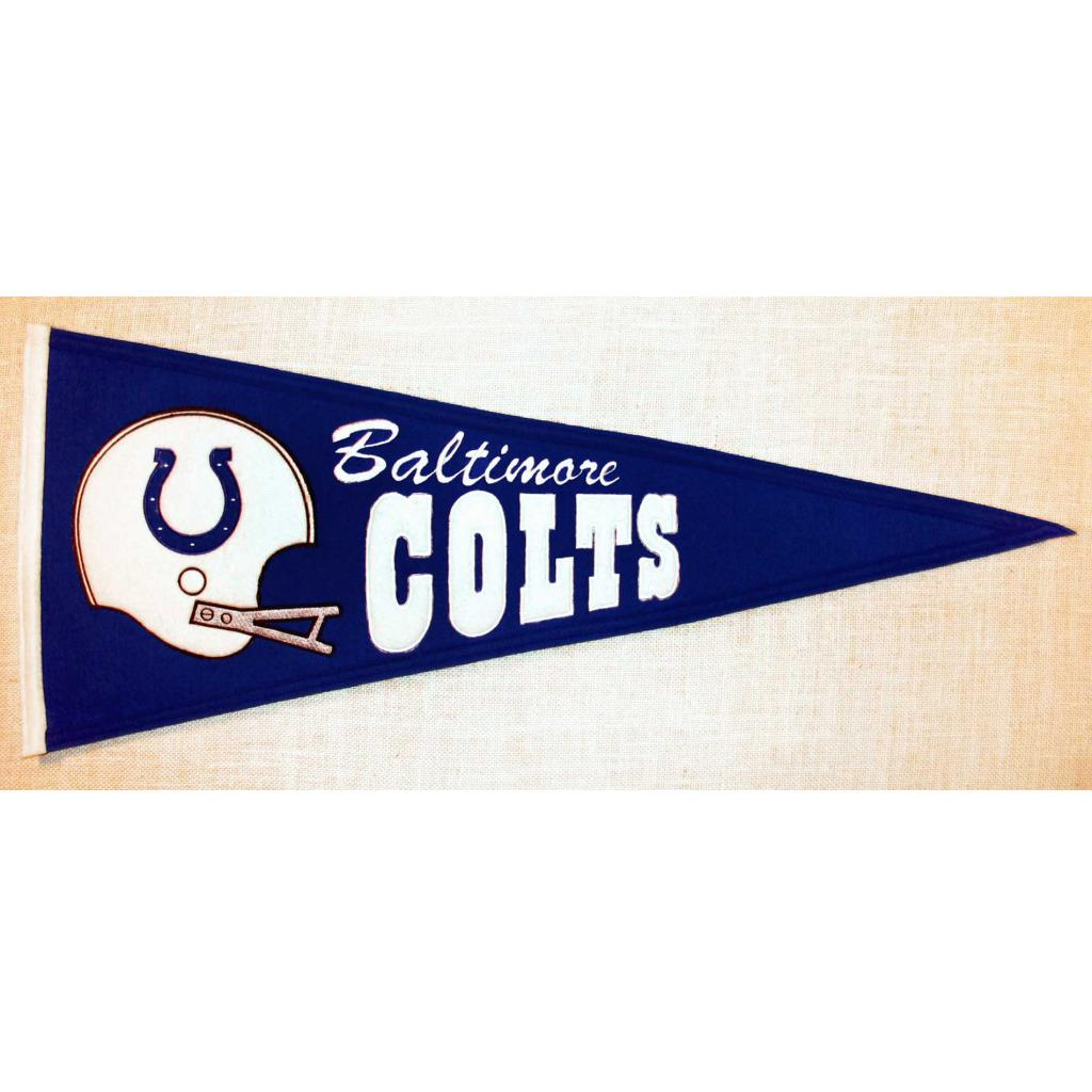 Baltimore Colts Throwback Wool Pennant