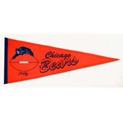 Chicago Bears Throwback Wool Pennant