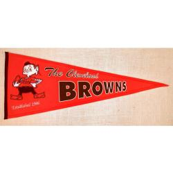 Cleveland Browns Throwback Wool Pennant - Thumbnail 1