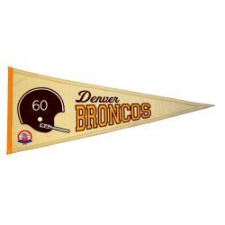 Denver Broncos AFL Throwback Wool Pennant - Thumbnail 2