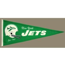 New York Jets Throwback Wool Pennant - Thumbnail 1