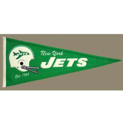 New York Jets Throwback Wool Pennant - Thumbnail 2