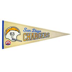 San Diego Chargers AFL Throwback Wool Pennant - Thumbnail 0