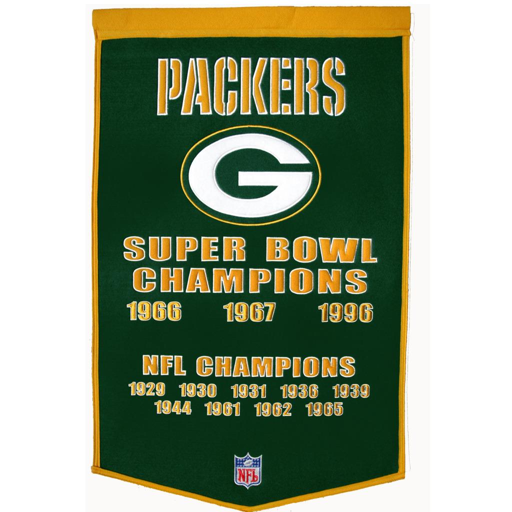 Green Bay Packers NFL Dynasty Banner