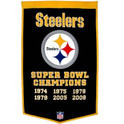 Pittsburgh Steelers NFL Dynasty Banner - Thumbnail 1