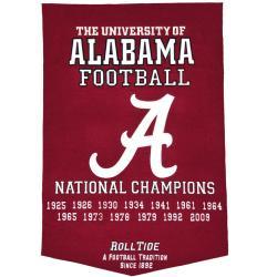 Alabama Crimson Tide NCAA Football Dynasty Banner - Thumbnail 1