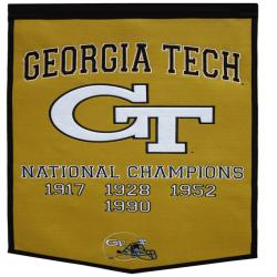 Georgia Tech Yellow Jackets NCAA Football Dynasty Banner - Thumbnail 1