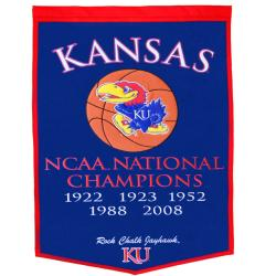 Kansas Jayhawks NCAA Basketball Dynasty Banner - Thumbnail 1