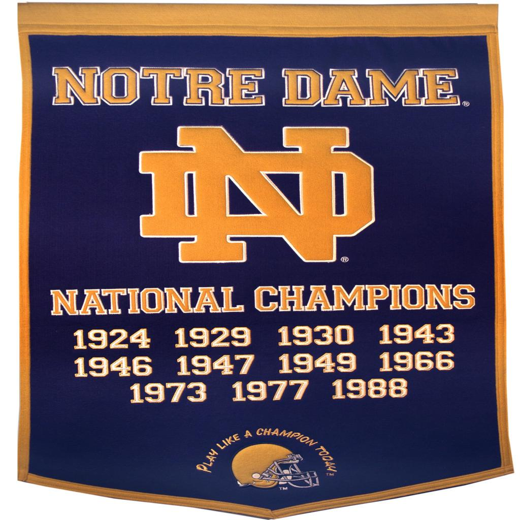 Notre Dame Fighting Irish NCAA Football Dynasty Banner - Thumbnail 0
