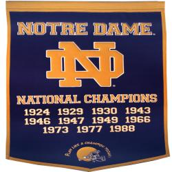 Notre Dame Fighting Irish NCAA Football Dynasty Banner - Thumbnail 1
