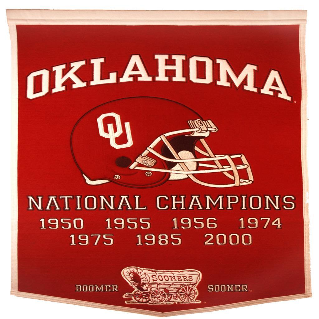 Oklahoma Sooners NCAA Football Dynasty Banner