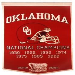 Oklahoma Sooners NCAA Football Dynasty Banner - Thumbnail 2