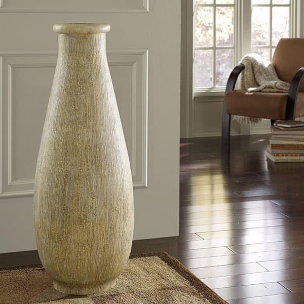 Whitewash Large Floor Vase