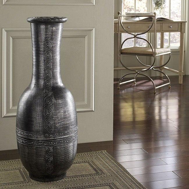 Antique Silver Decorative Vase (Indonesia)