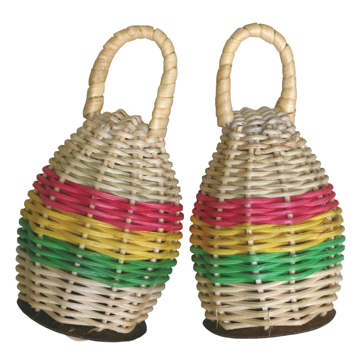 Set of 2 Rattan and Coconut Caxixi Shaker (Indonesia)