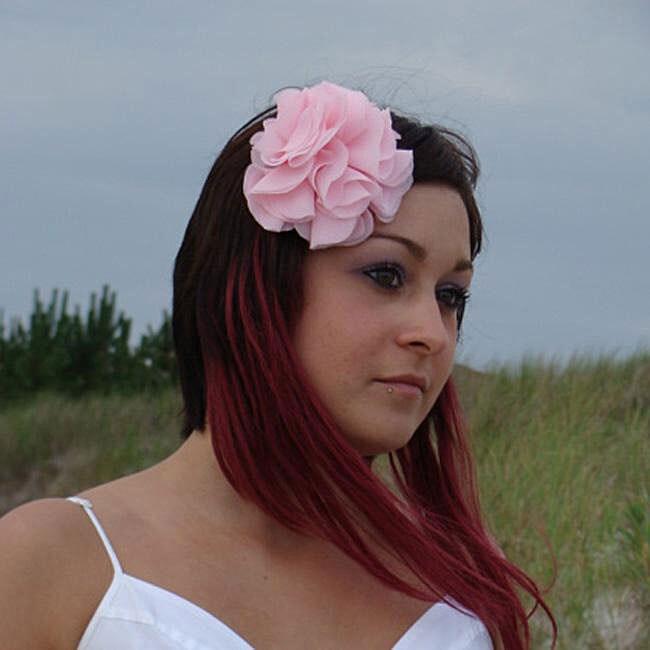 Caroline Alexander Handcrafted Chiffon Hair Flower with Alligator Clip