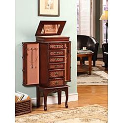 Mandalay Cherry 6-drawer Jewelry Armoire - Thumbnail 1